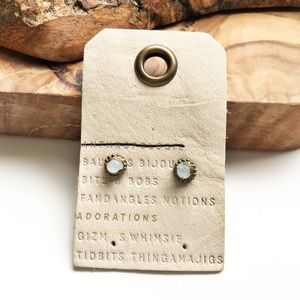 Anthropologie opaque stud earrings